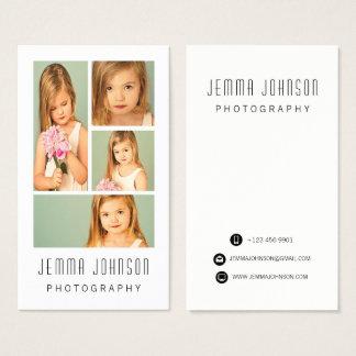 Cartão de visita do quadro da foto da fotografia