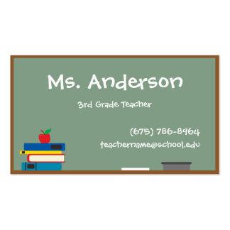 Cartão de visita do quadro do professor