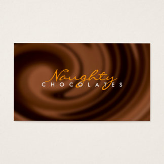 Cartão de visita do redemoinho do chocolate