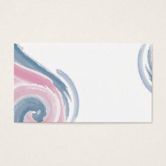 Cartão de visita do redemoinho do design