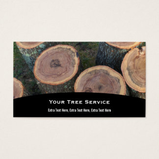 Cartão de visita do registro da árvore