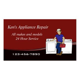 Cartão de visita do reparador do dispositivo