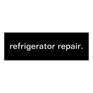 Cartão de visita do reparo do refrigerador