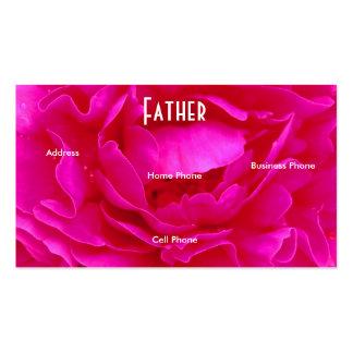 Cartão de visita do rosa do rosa do pai