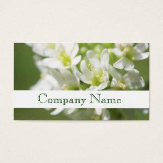Cartão de visita do salão de beleza das flores