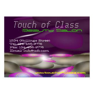 Cartão de visita do salão de beleza das unhas