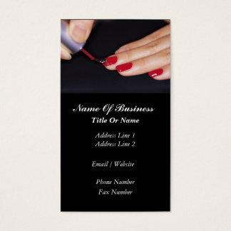 Cartão de visita do salão de beleza do prego