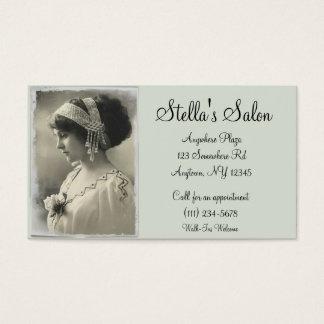 Cartão de visita do salão de beleza do vintage