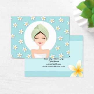 Cartão de visita do salão de beleza ou dos termas