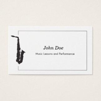Cartão de visita do saxofone