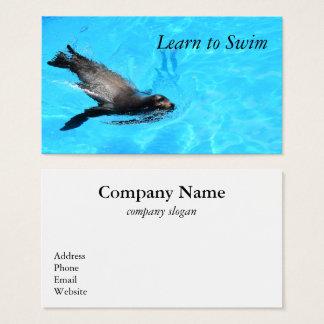 Cartão de visita do selo da natação