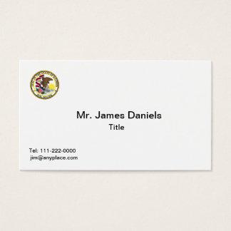 Cartão de visita do selo do estado de Illinois