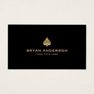 Cartão de visita do símbolo da pá do ouro