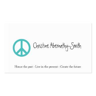 Cartão de visita do símbolo de paz da cerceta