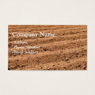 Cartão de visita do solo da fazenda da agricultura