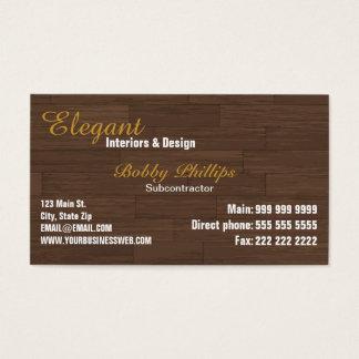 Cartão de visita do subcontratante