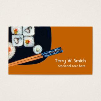 Cartão de visita do sushi