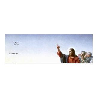 Cartão de visita do Tag do presente de Jesus