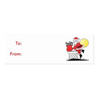 Cartão de visita do Tag do presente do papai noel