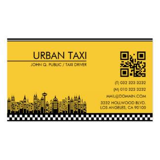 Cartão de visita do taxista do motorista de táxi