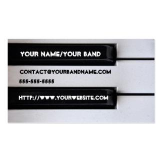 Cartão de visita do teclado