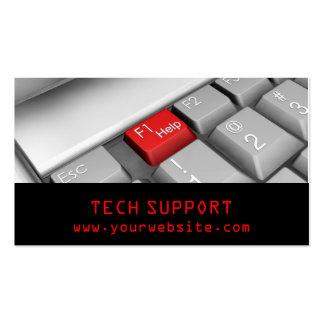 Cartão de visita do teclado de computador