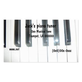 Cartão de visita do teclado de piano