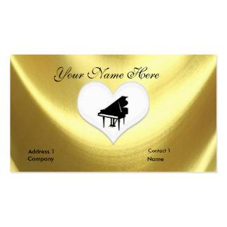Cartão de visita do teclado de piano de cauda do o