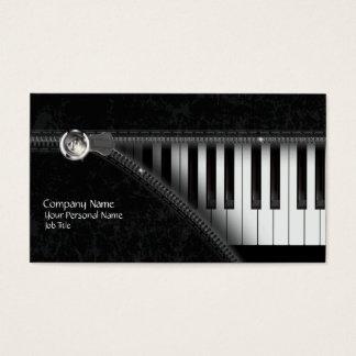 Cartão de visita do teclado de piano de quatro