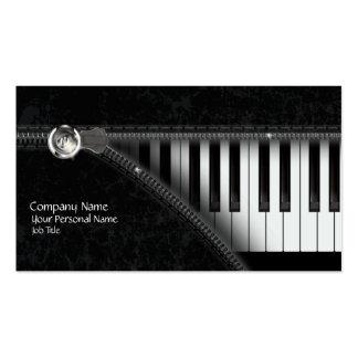 Cartão de visita do teclado de piano de quatro cor