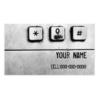 cartão de visita do teclado do grunge