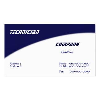 Cartão de visita do técnico