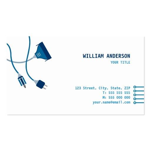 Cartão de visita do técnico do computador