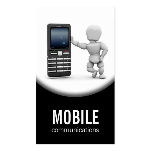 Cartão de visita do telefone móvel