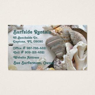 Cartão de visita do tema da praia
