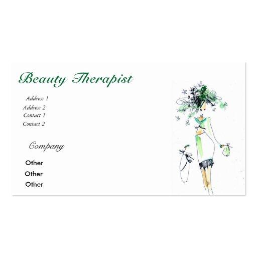 Cartão de visita do terapeuta da beleza