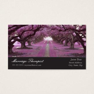 Cartão de visita do terapeuta do casamento da