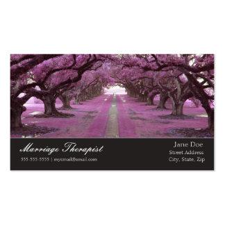 Cartão de visita do terapeuta do casamento da árvo