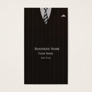 Cartão de visita do terno de negócio do advogado &