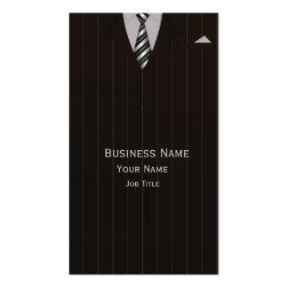 Cartão de visita do terno de negócio do advogado