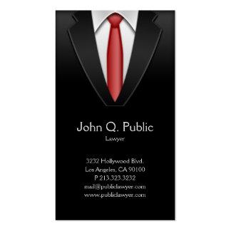 Cartão de visita do terno do preto do alfaiate do