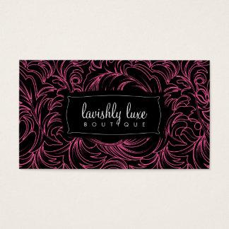 cartão de visita do traço do rosa de 311-Lavishly