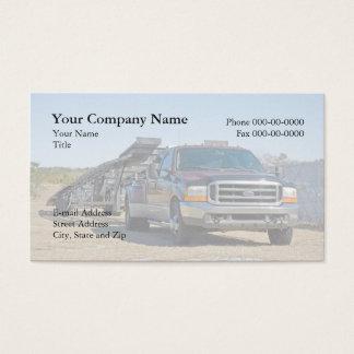 Cartão de visita do transporte