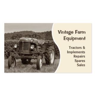 Cartão de visita do trator do vintage