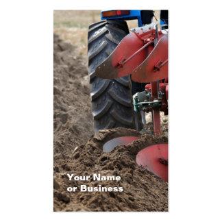 Cartão de visita do trator e do arado