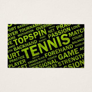 Cartão de visita do treinador de tênis