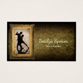 Cartão de visita do tutor da dança do vintage