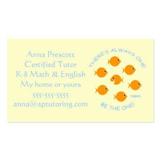 Cartão de visita do tutor da escola primária