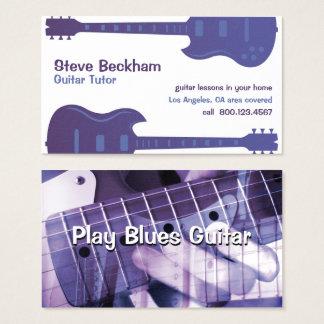 Cartão de visita do tutor da guitarra