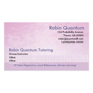 Cartão de visita do tutor da matemática